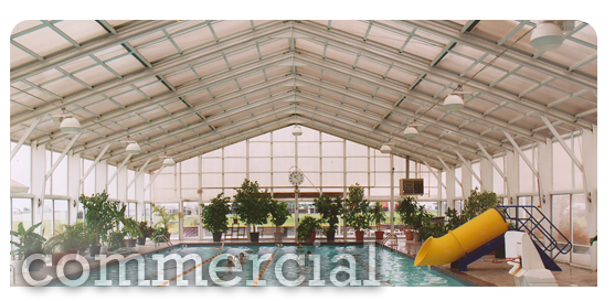 Commercial Swimming Pool Enclosure with Garden